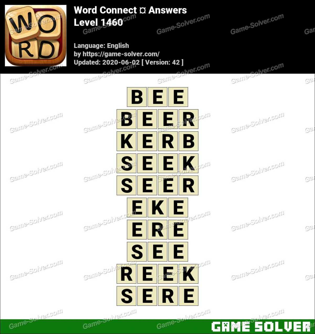Word Connect Level 1460 Answers