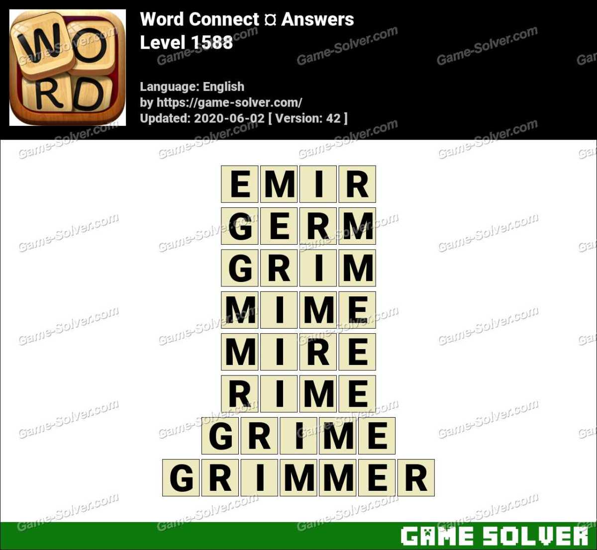 Word Connect Level 1588 Answers