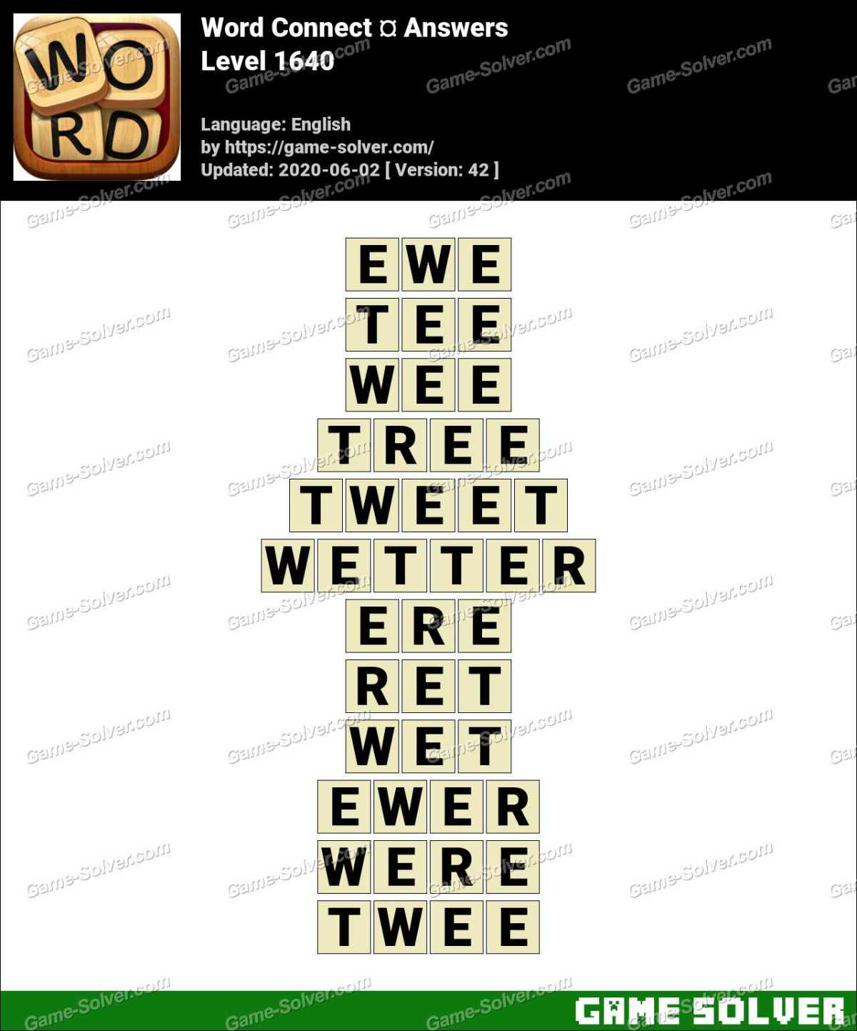 Word Connect Level 1640 Answers