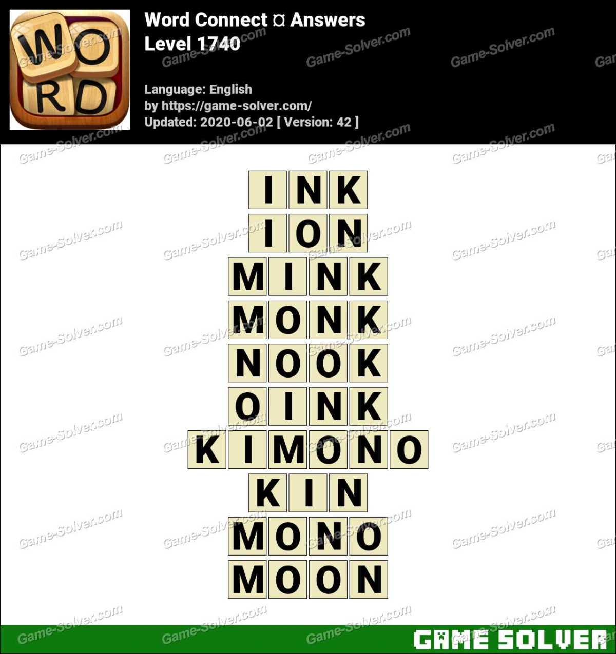 Word Connect Level 1740 Answers