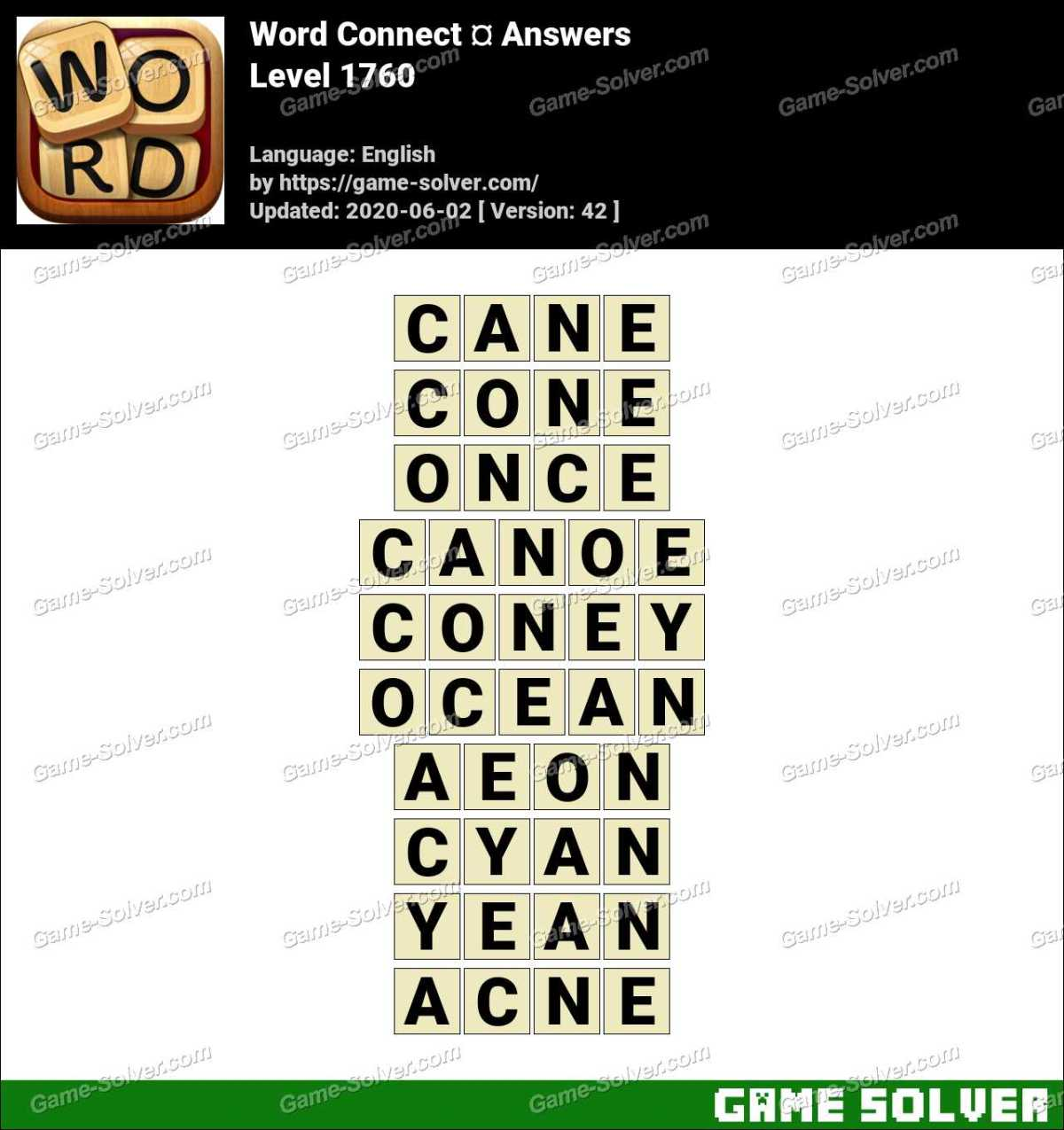 Word Connect Level 1760 Answers