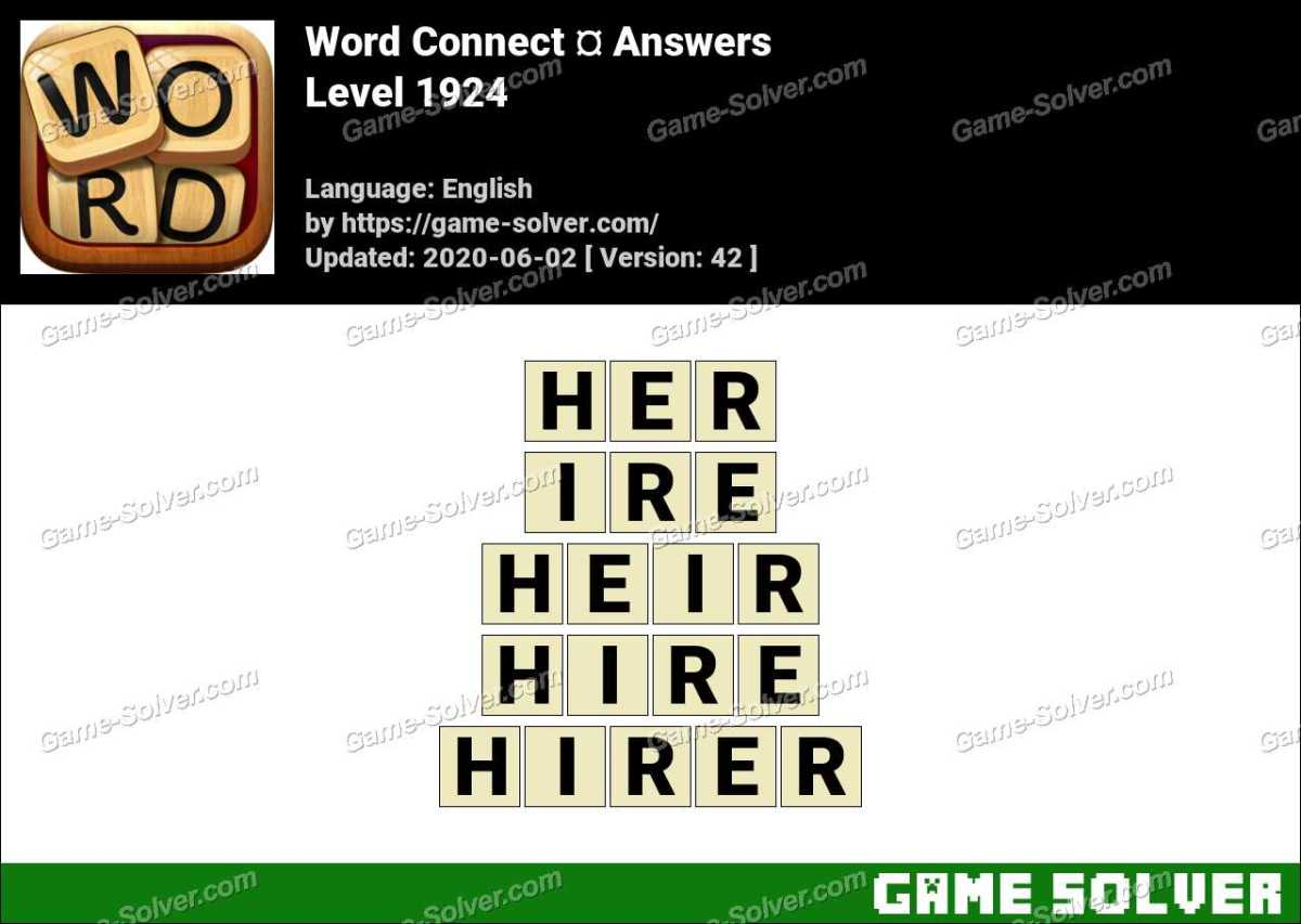 Word Connect Level 1924 Answers