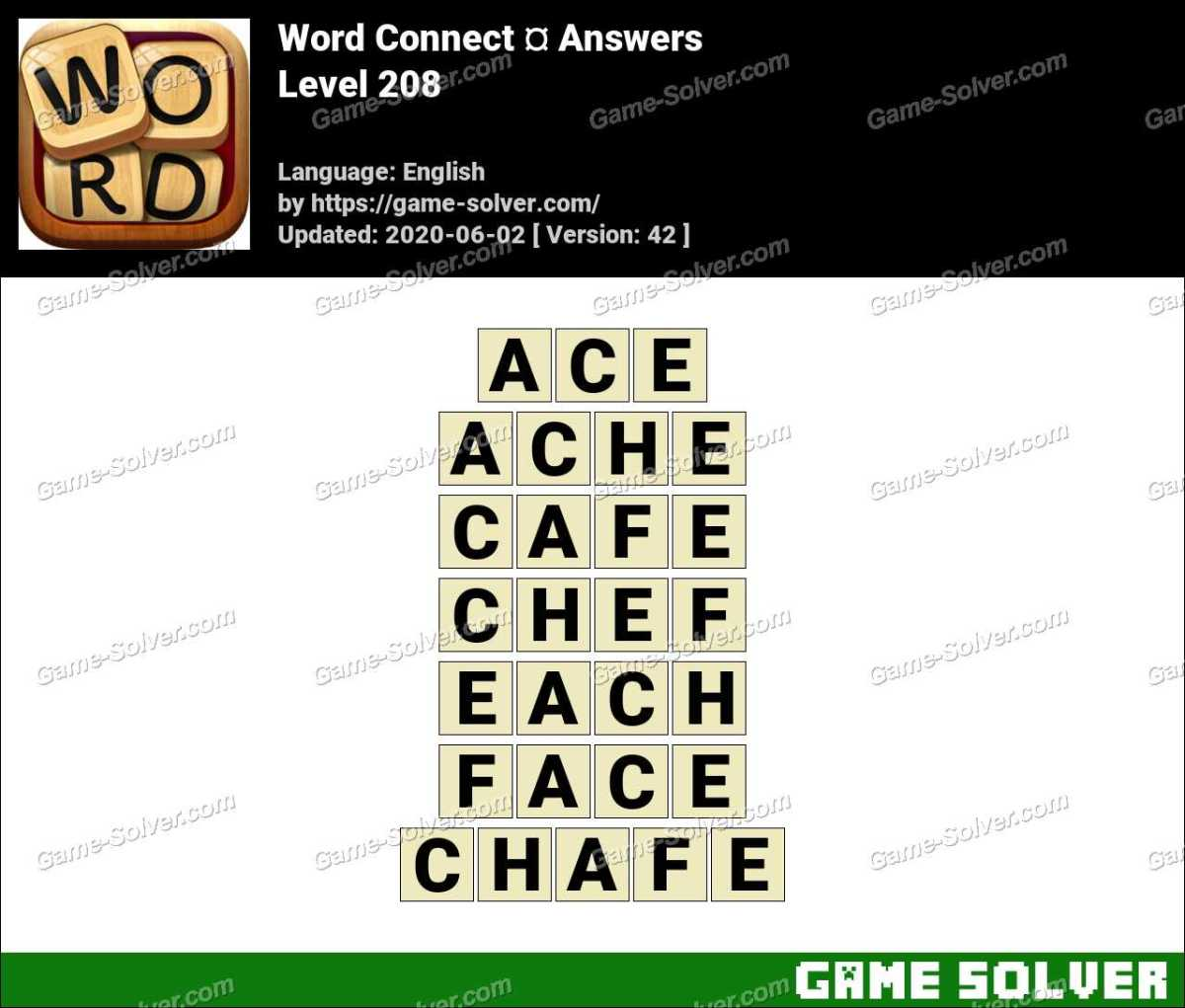 Word Connect Level 208 Answers