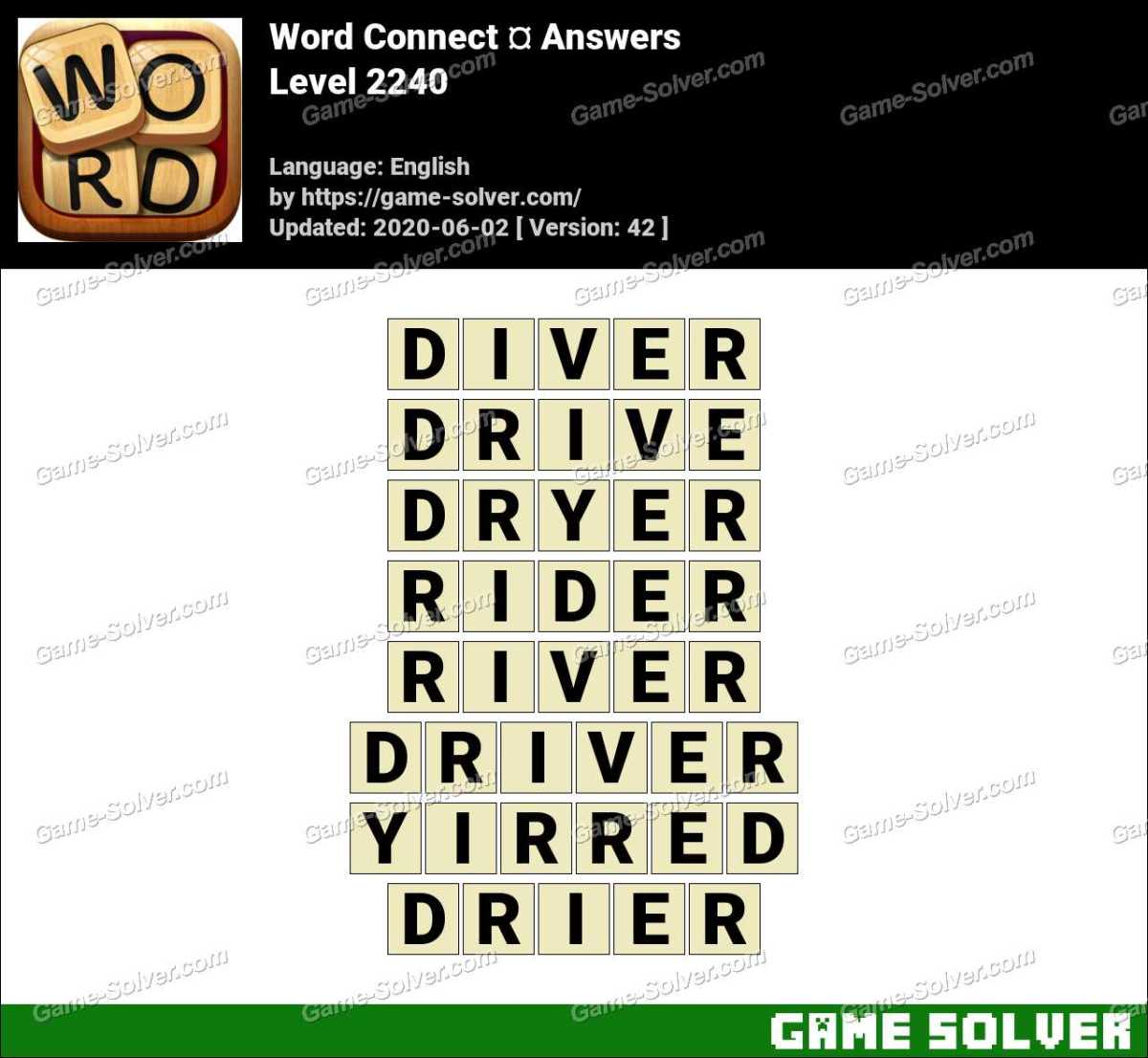 Word Connect Level 2240 Answers