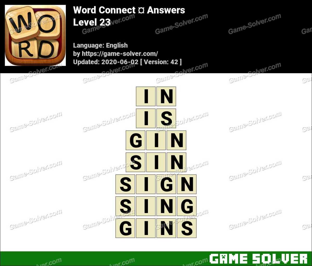 Word Connect Level 23 Answers