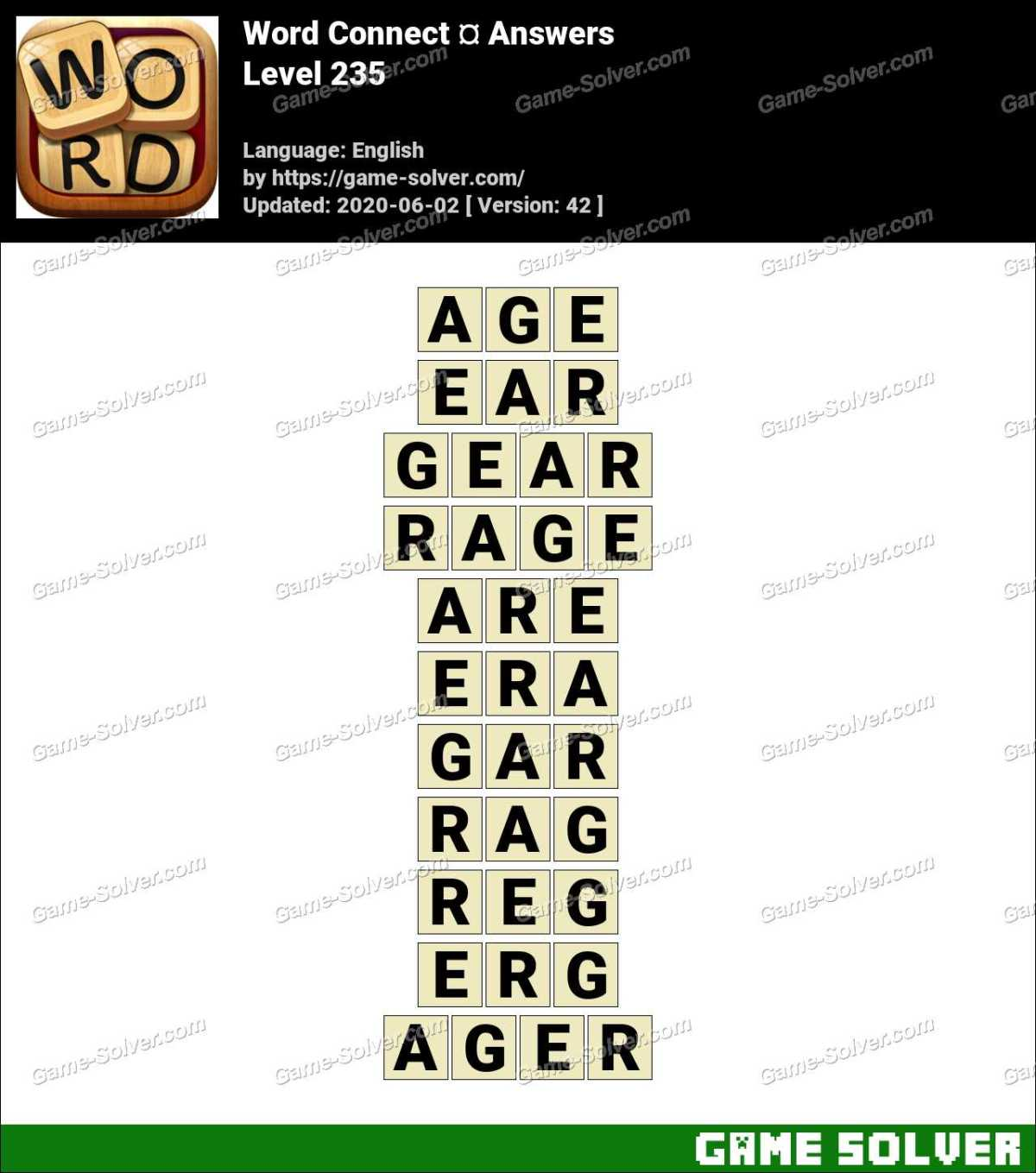 Word Connect Level 235 Answers