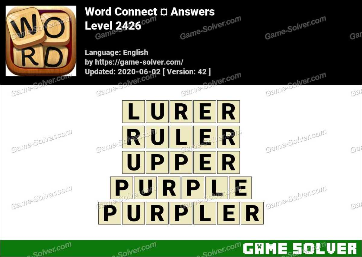 Word Connect Level 2426 Answers