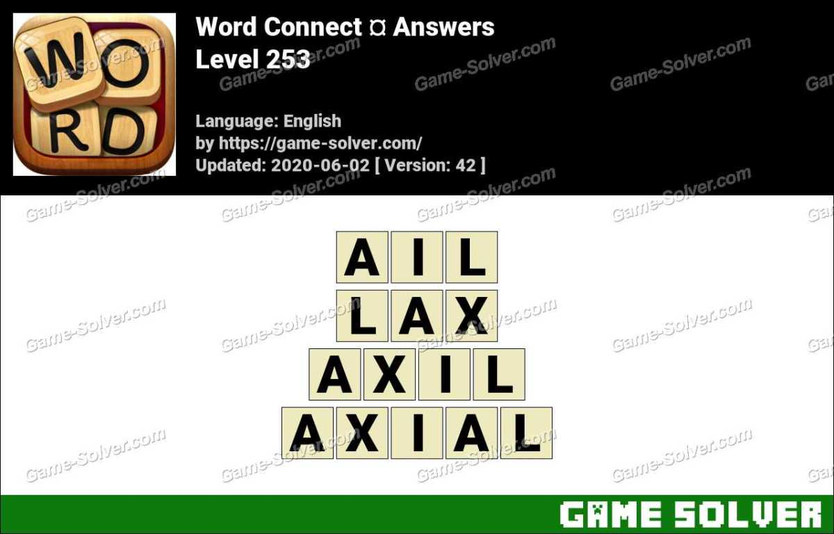 Word Connect Level 253 Answers
