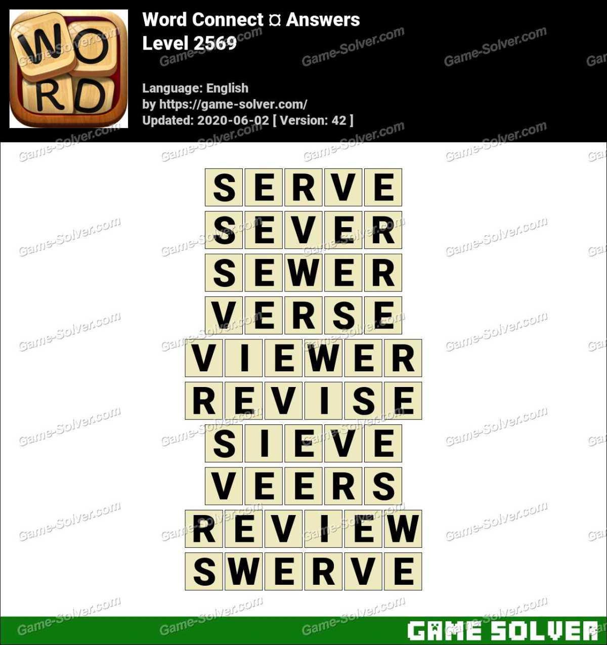 Word Connect Level 2569 Answers