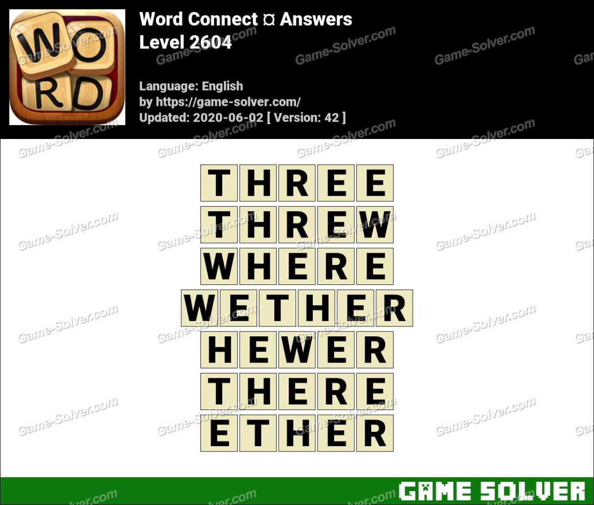 Word Connect Level 2604 Answers