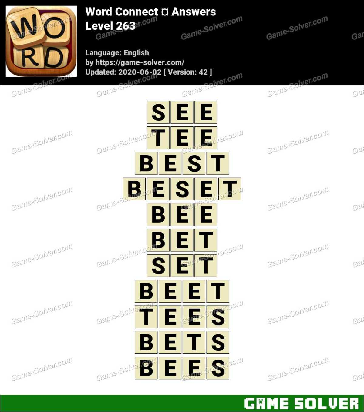 Word Connect Level 263 Answers