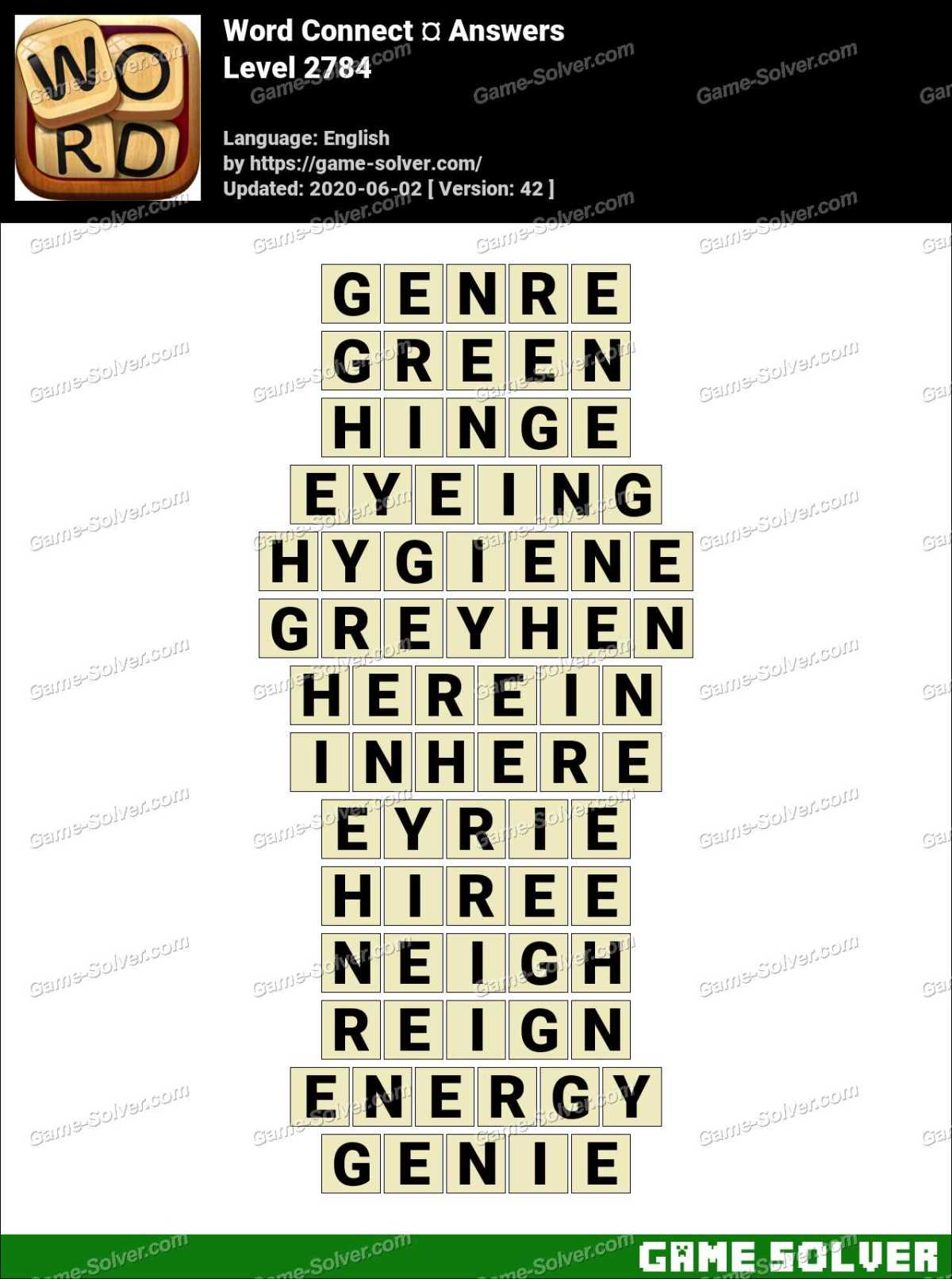 Word Connect Level 2784 Answers