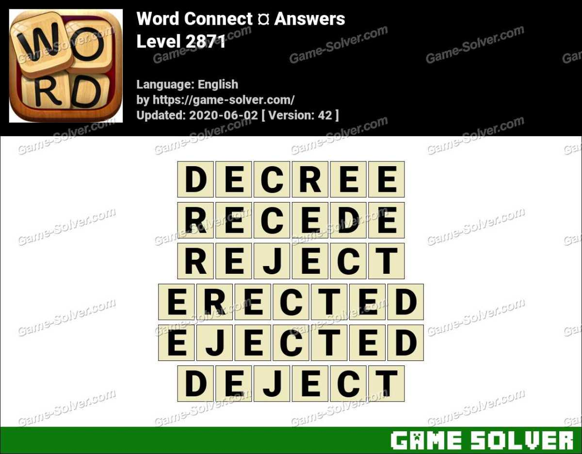 Word Connect Level 2871 Answers