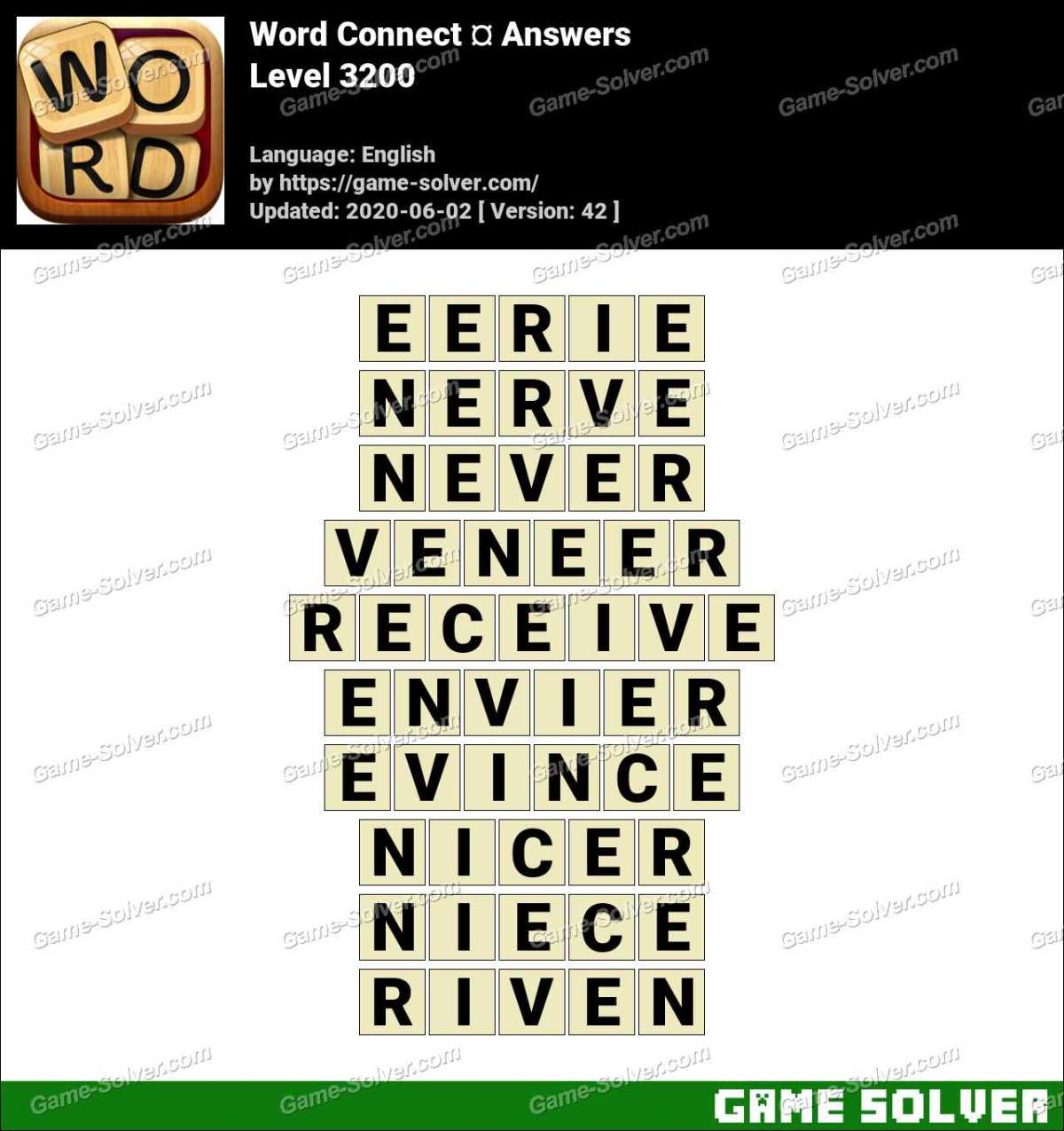 Word Connect Level 3200 Answers