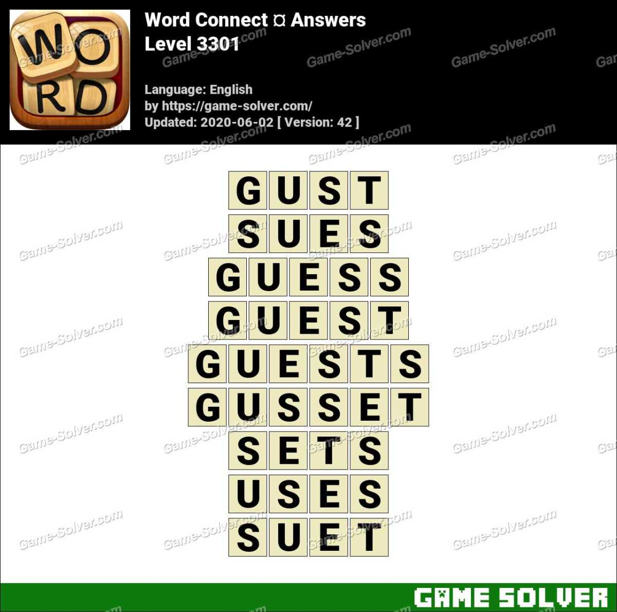 Word Connect Level 3301 Answers