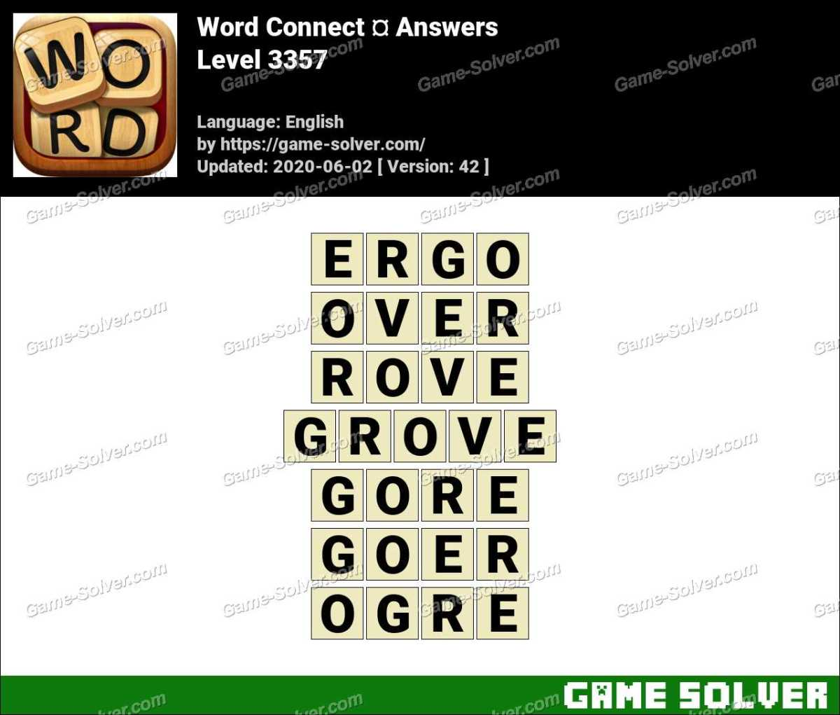 Word Connect Level 3357 Answers
