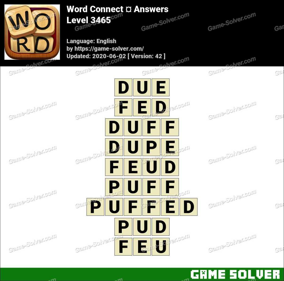 Word Connect Level 3465 Answers