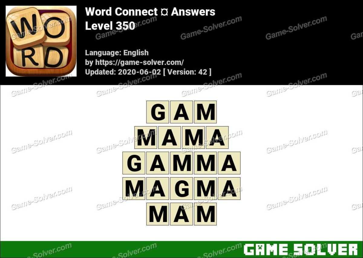 Word Connect Level 350 Answers