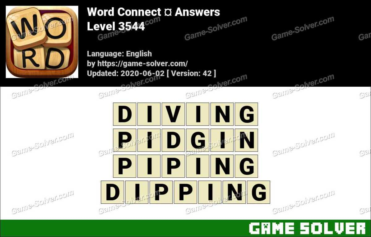 Word Connect Level 3544 Answers