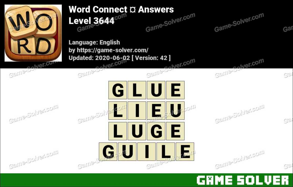 Word Connect Level 3644 Answers