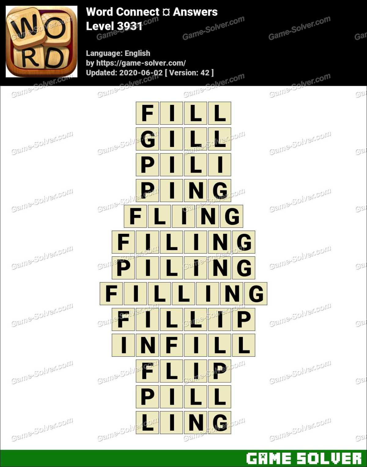 Word Connect Level 3931 Answers