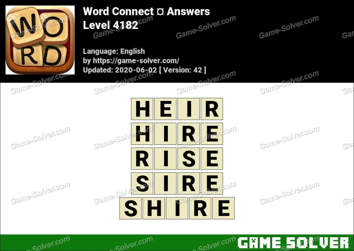 Word Connect Level 4182 Answers