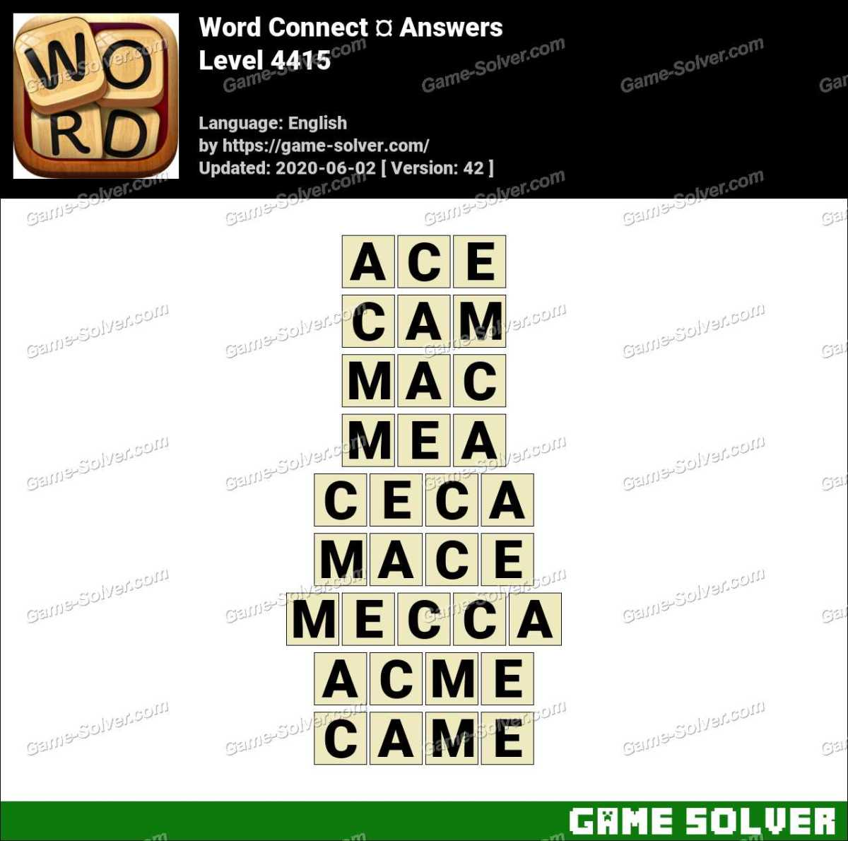 Word Connect Level 4415 Answers