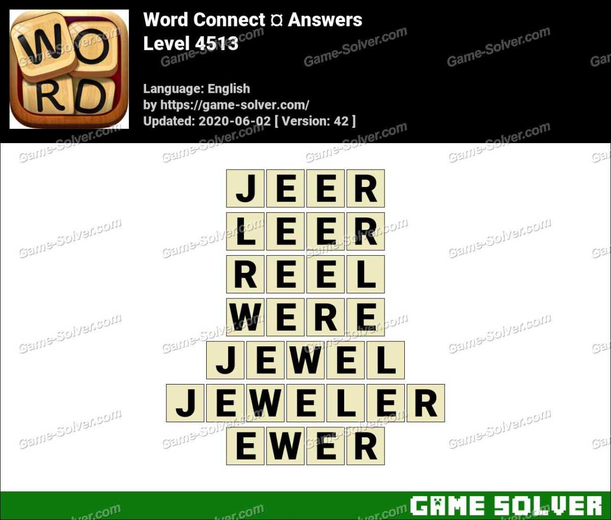 Word Connect Level 4513 Answers