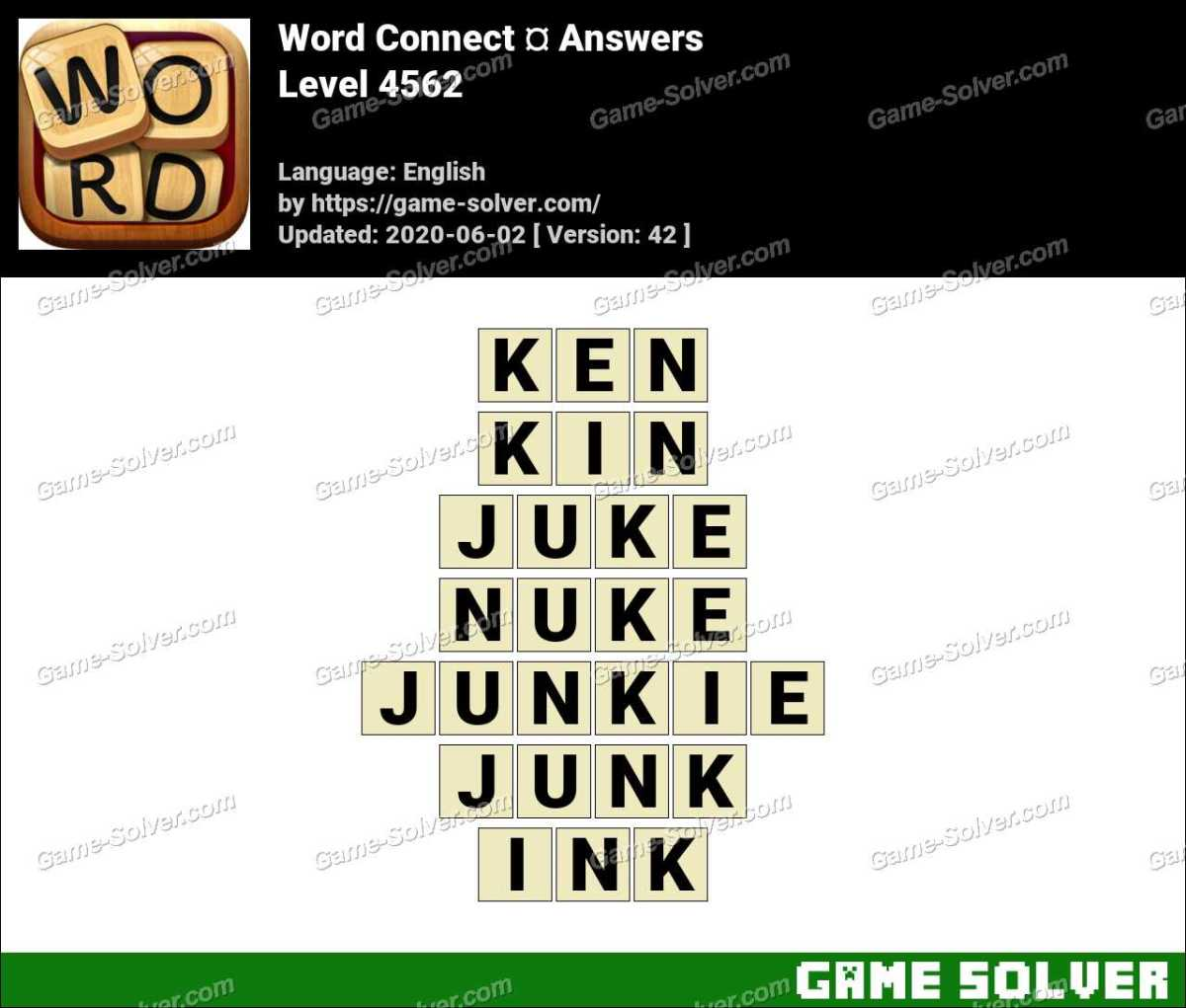 Word Connect Level 4562 Answers