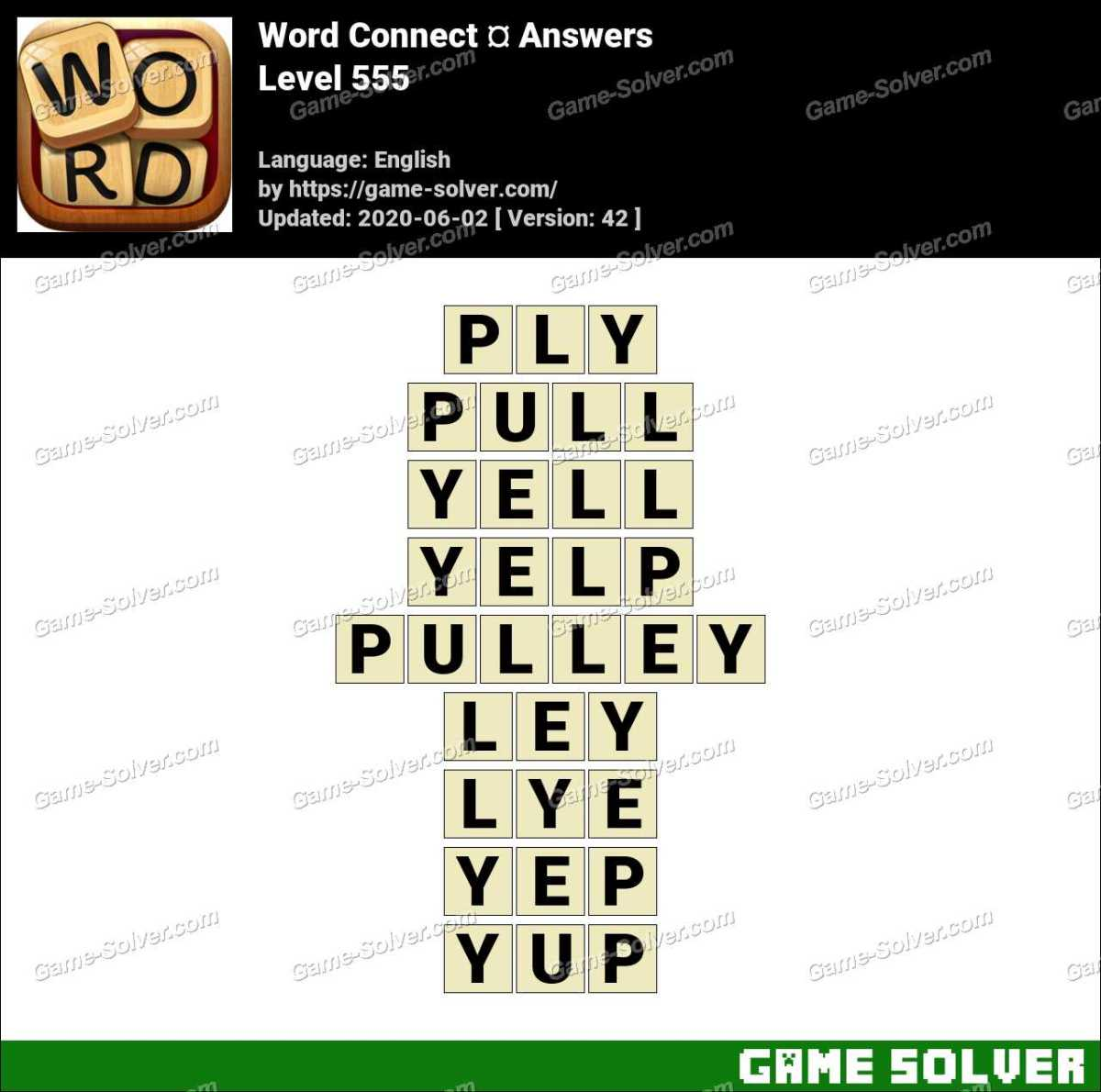Word Connect Level 555 Answers