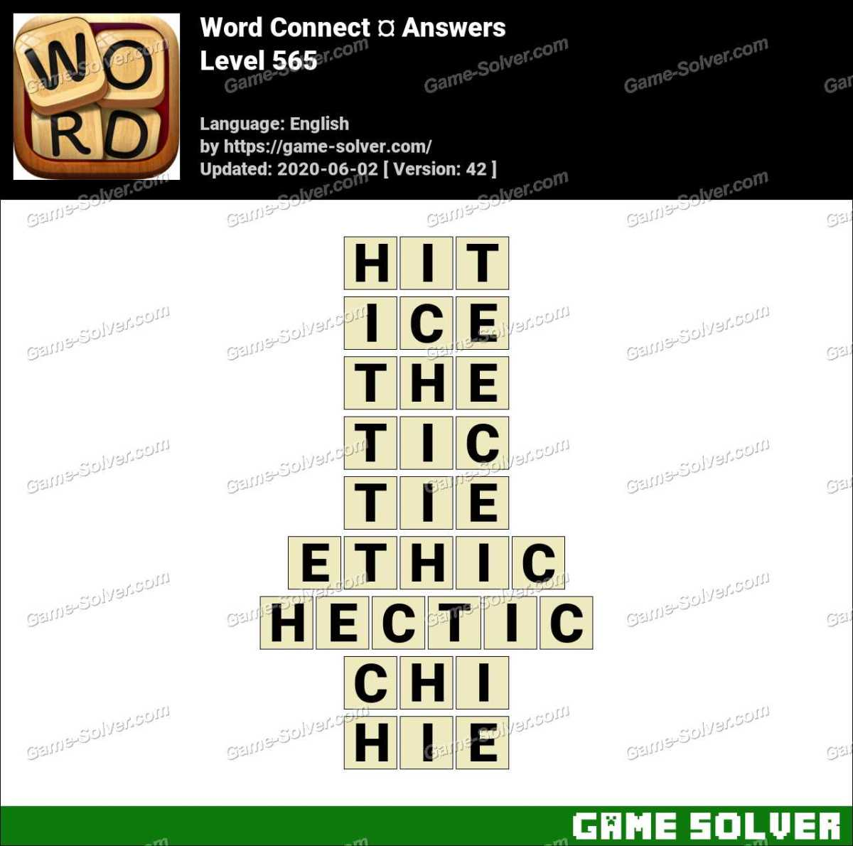 Word Connect Level 565 Answers
