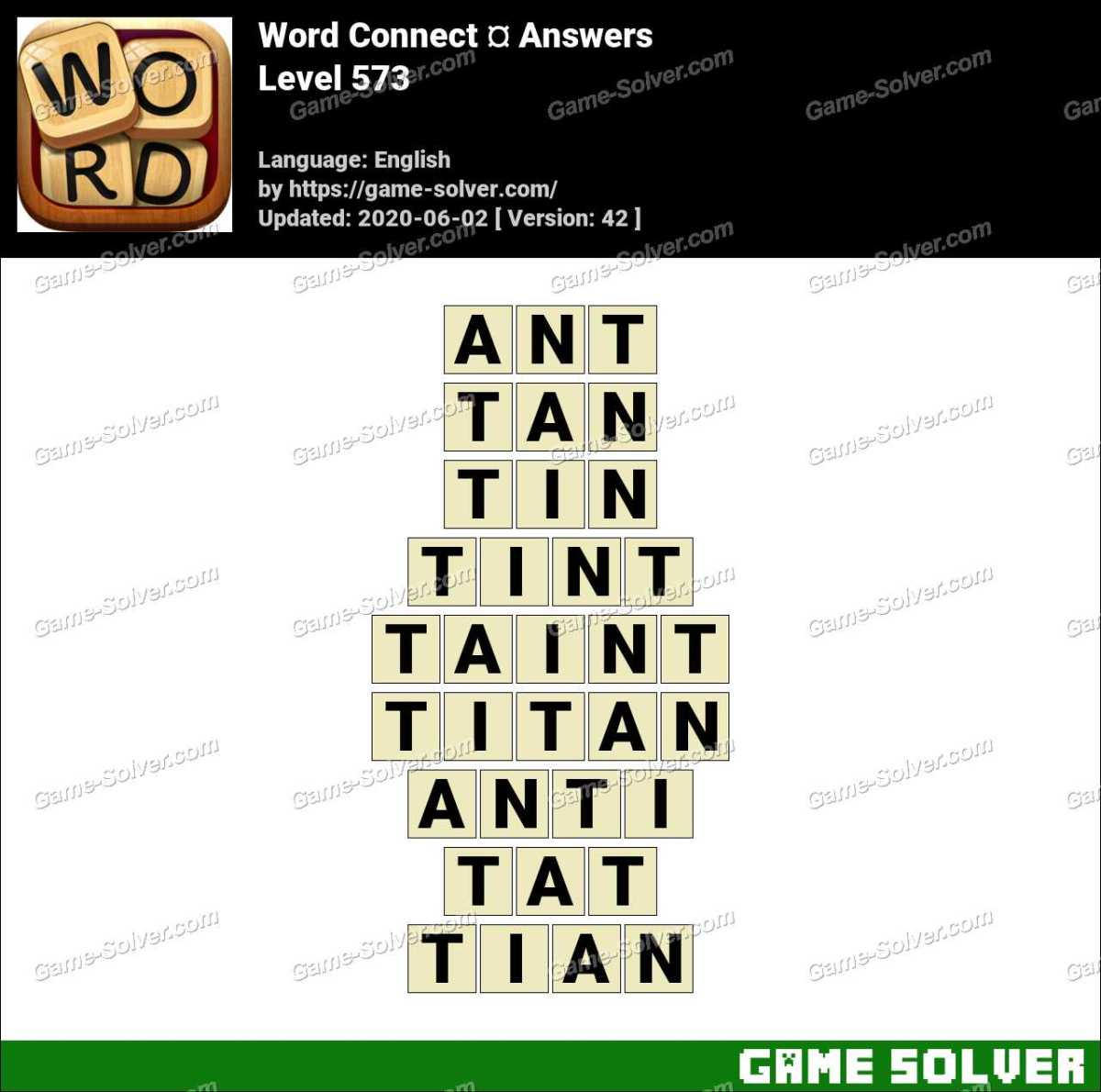 Word Connect Level 573 Answers