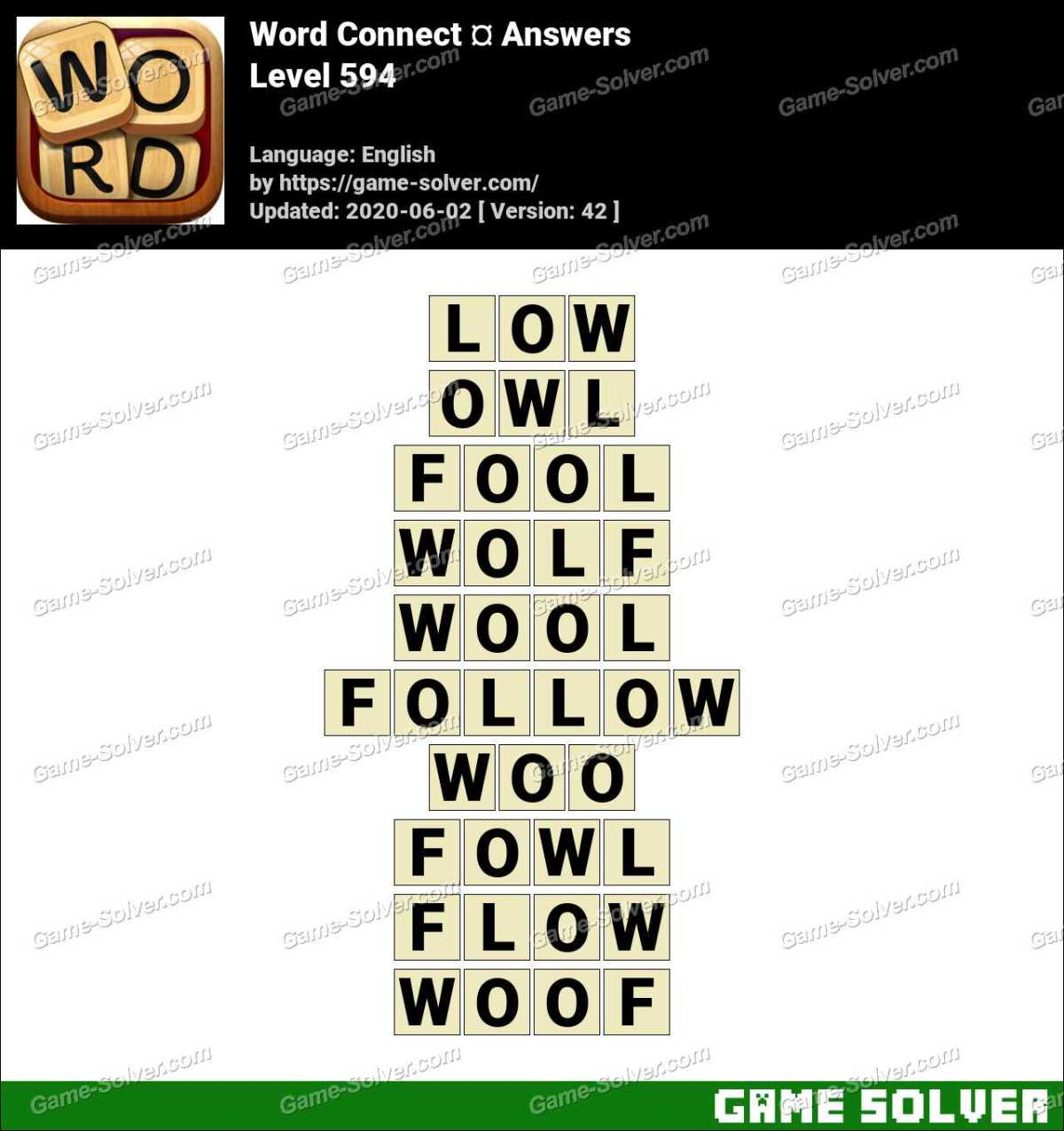 Word Connect Level 594 Answers
