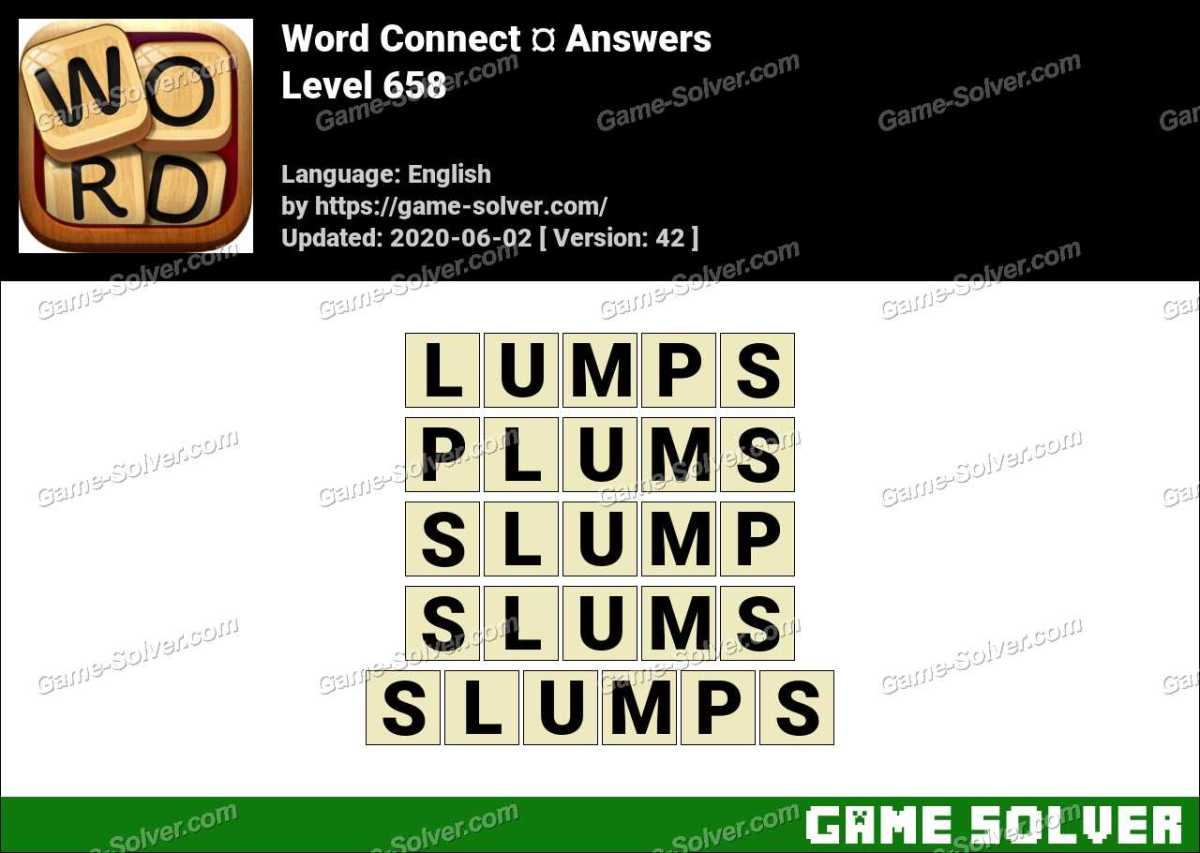 Word Connect Level 658 Answers