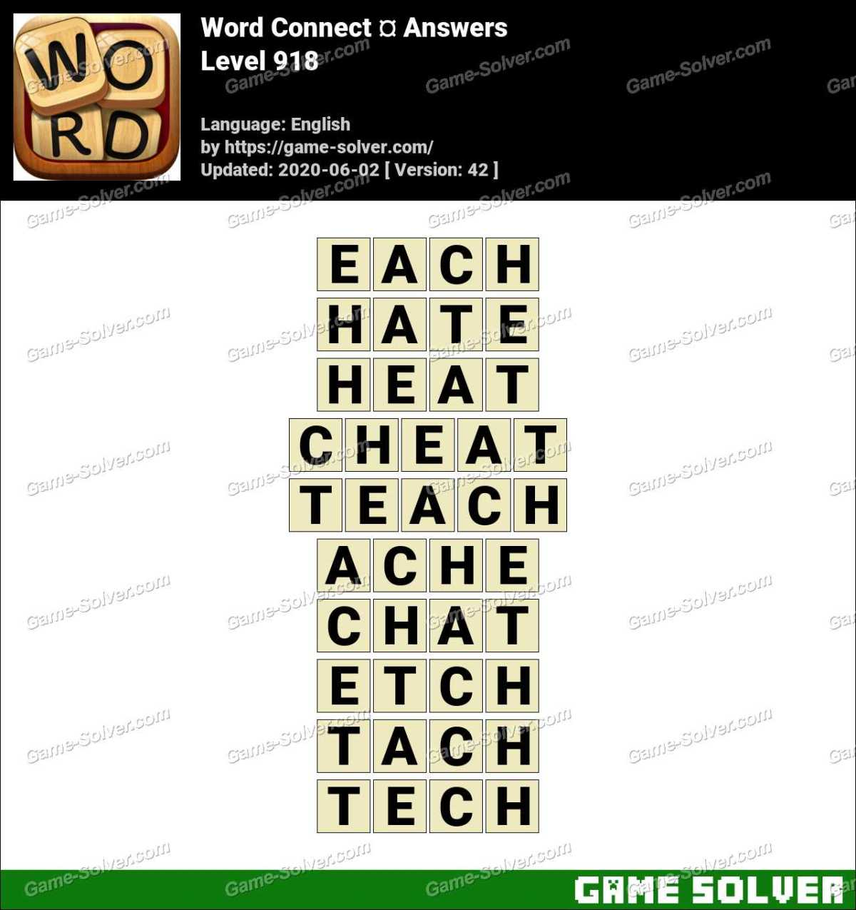 Word Connect Level 918 Answers