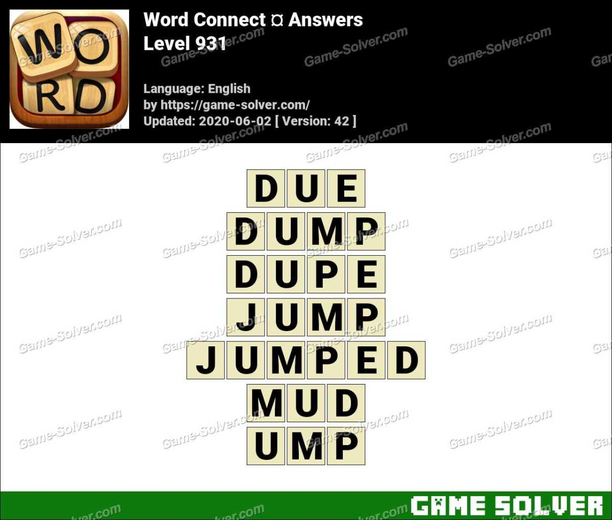 Word Connect Level 931 Answers