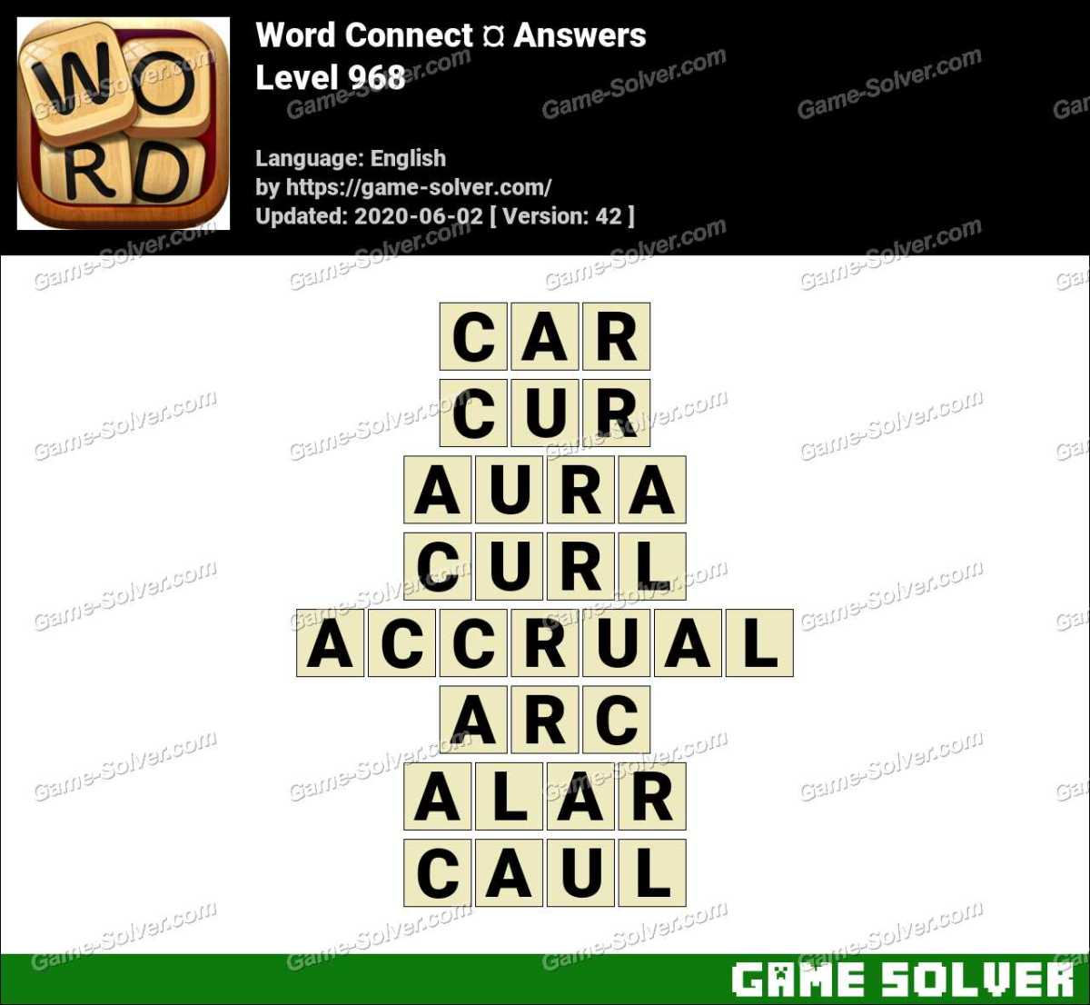 Word Connect Level 968 Answers