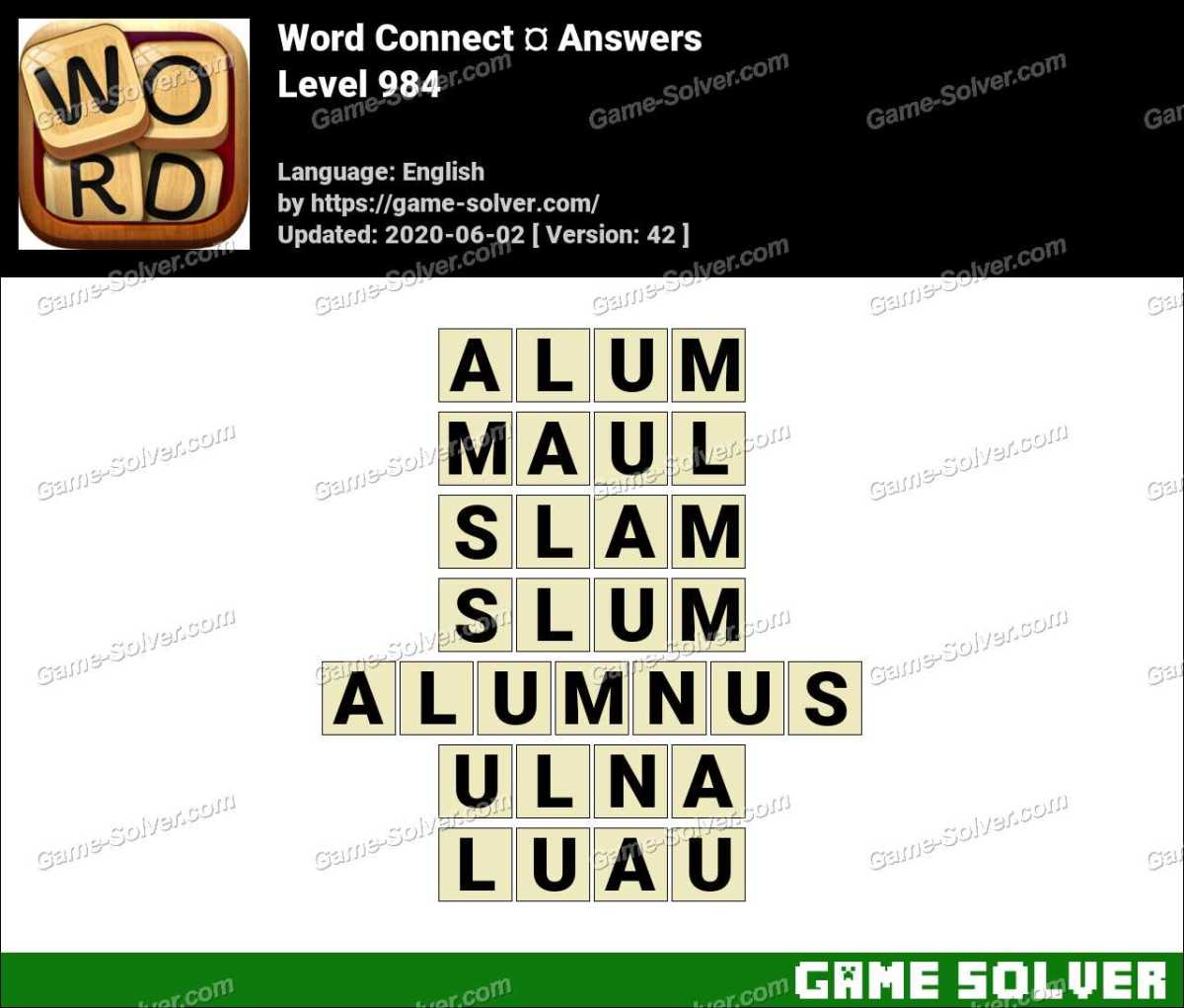 Word Connect Level 984 Answers