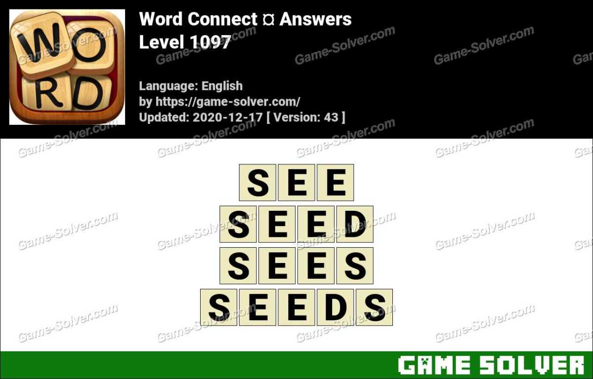 Word Connect Level 1097 Answers