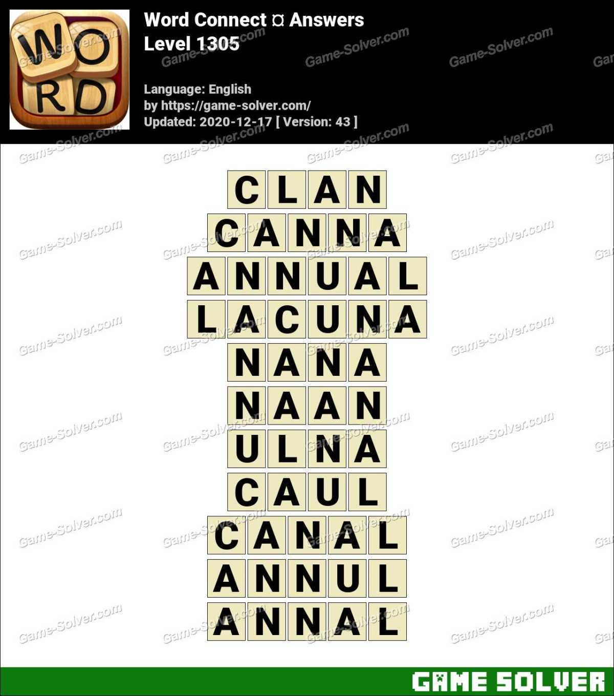 Word Connect Level 1305 Answers