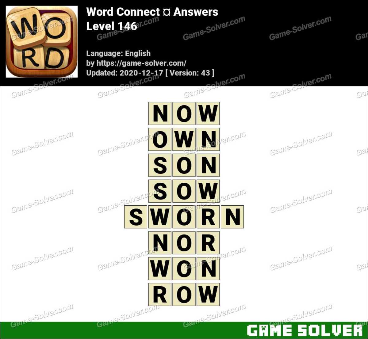 Word Connect Level 146 Answers