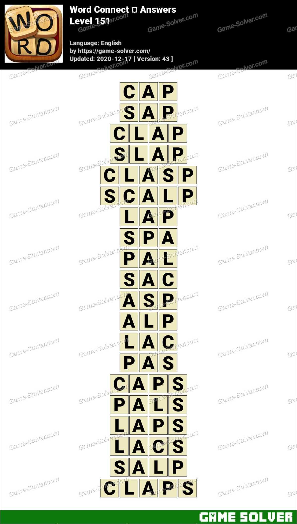 Word Connect Level 151 Answers
