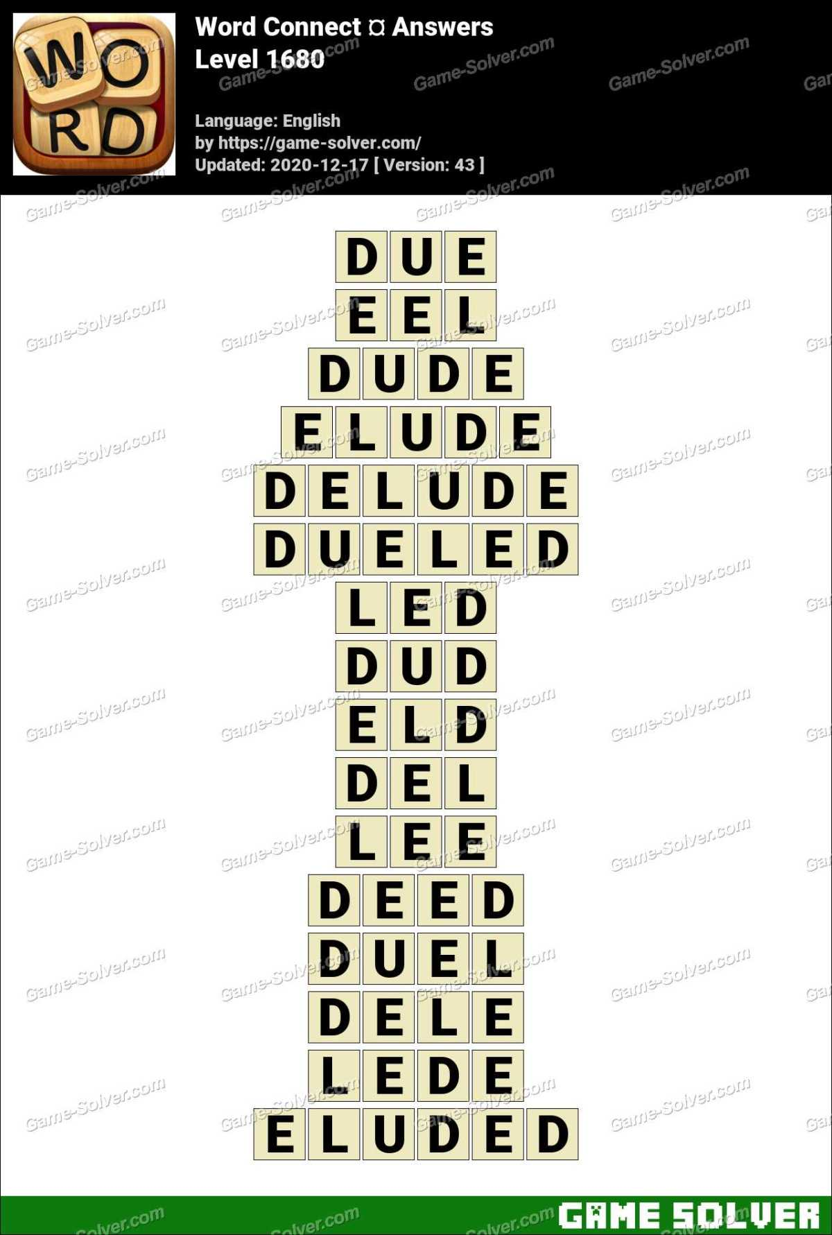 Word Connect Level 1680 Answers