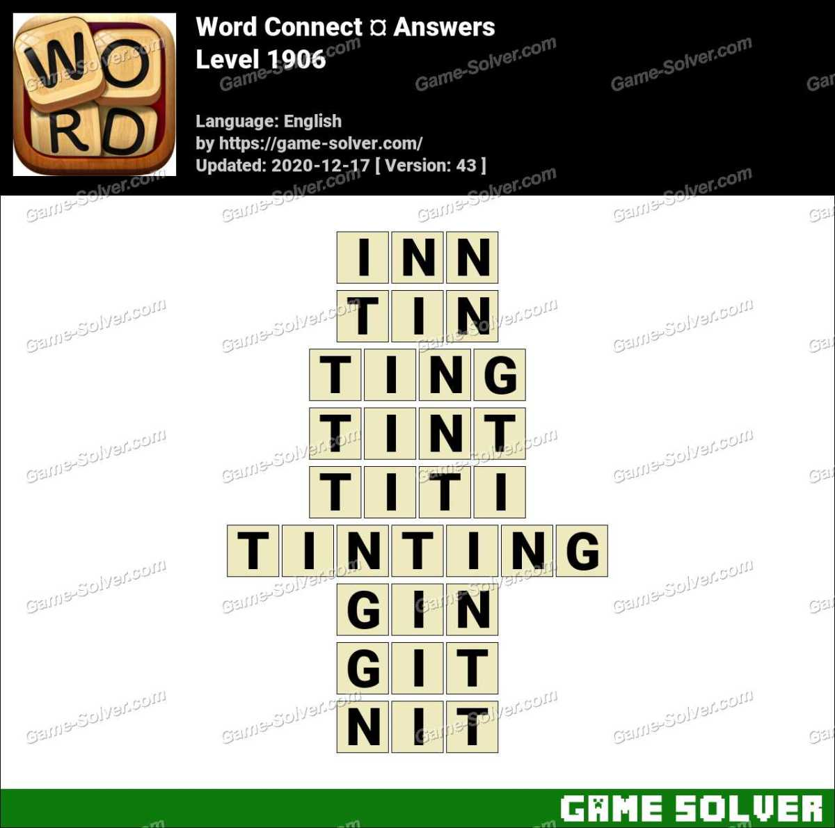 Word Connect Level 1906 Answers