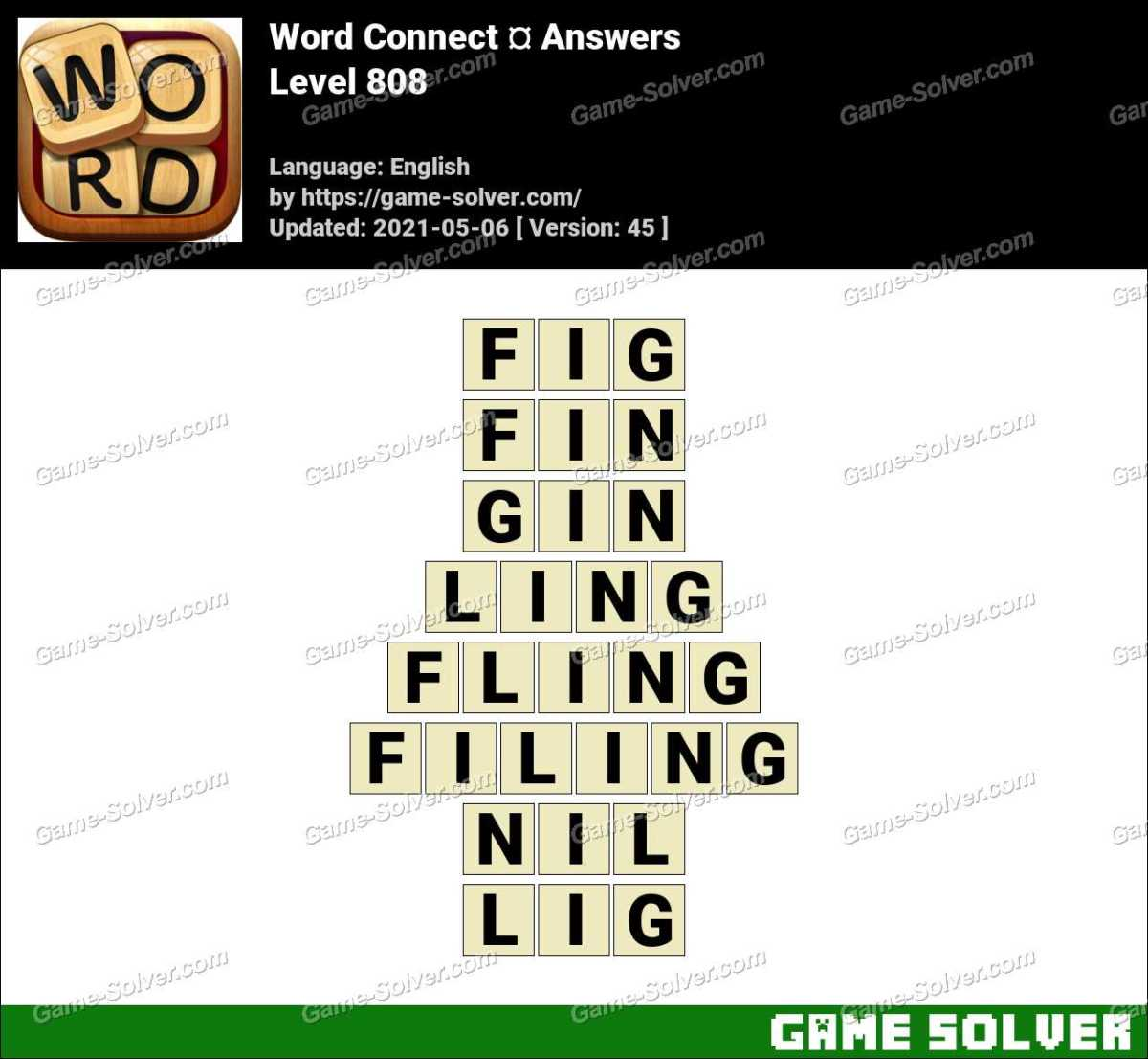 Word Connect Level 808 Answers