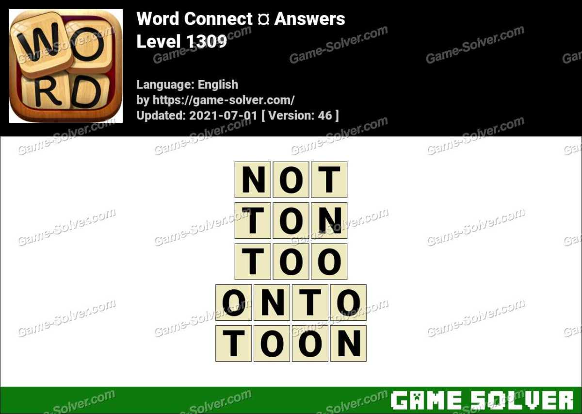 Word Connect Level 1309 Answers