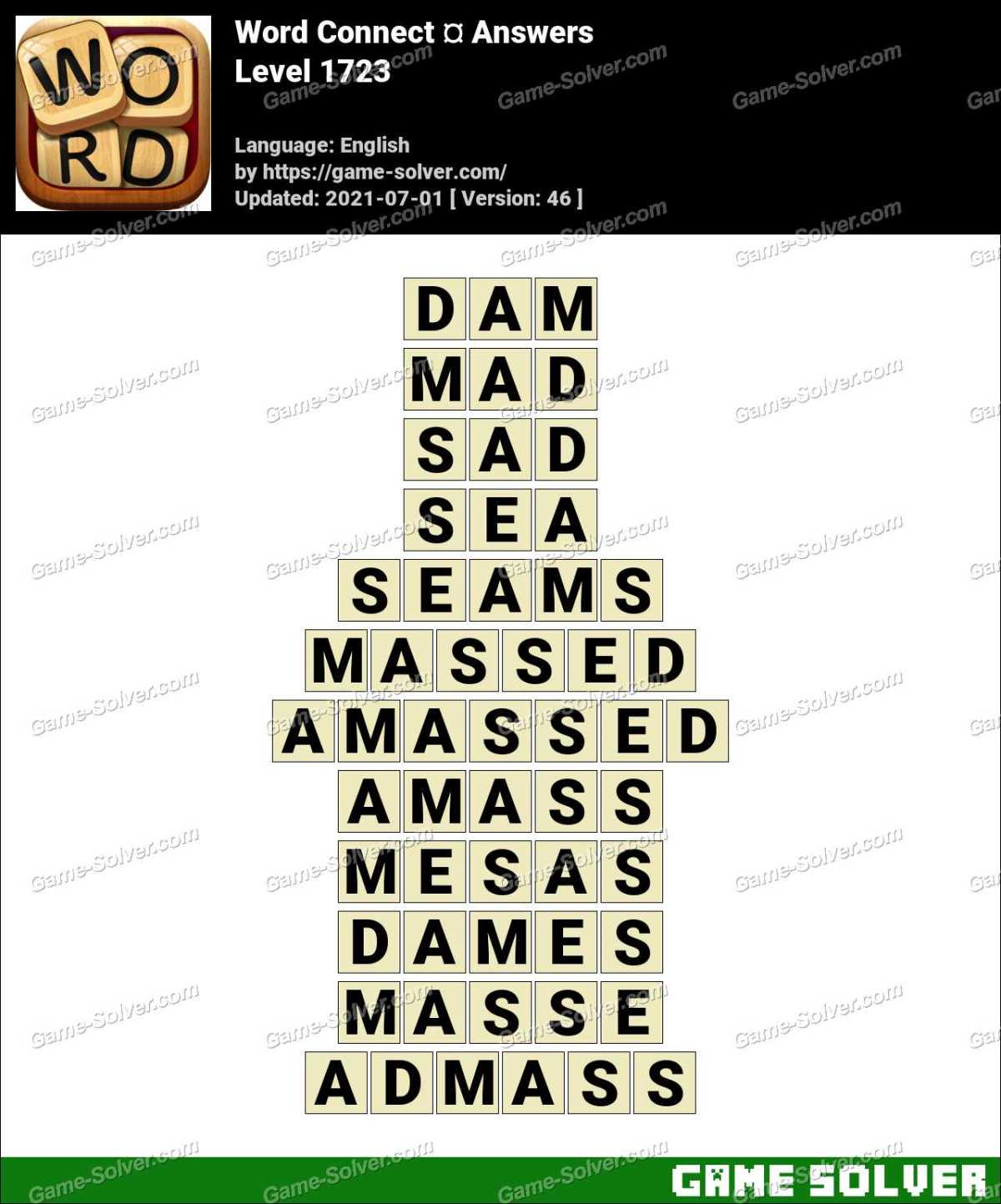 Word Connect Level 1723 Answers