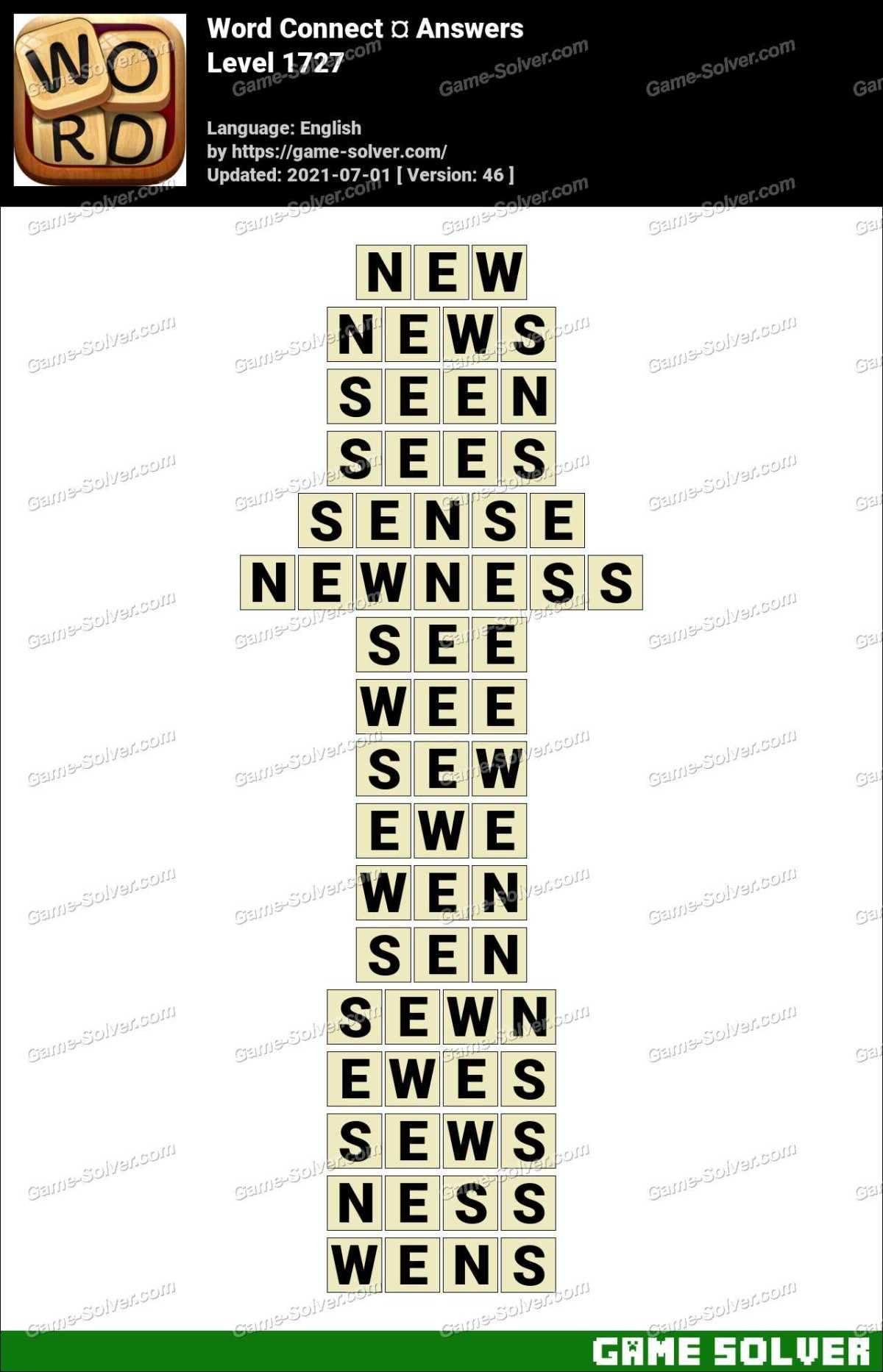 Word Connect Level 1727 Answers