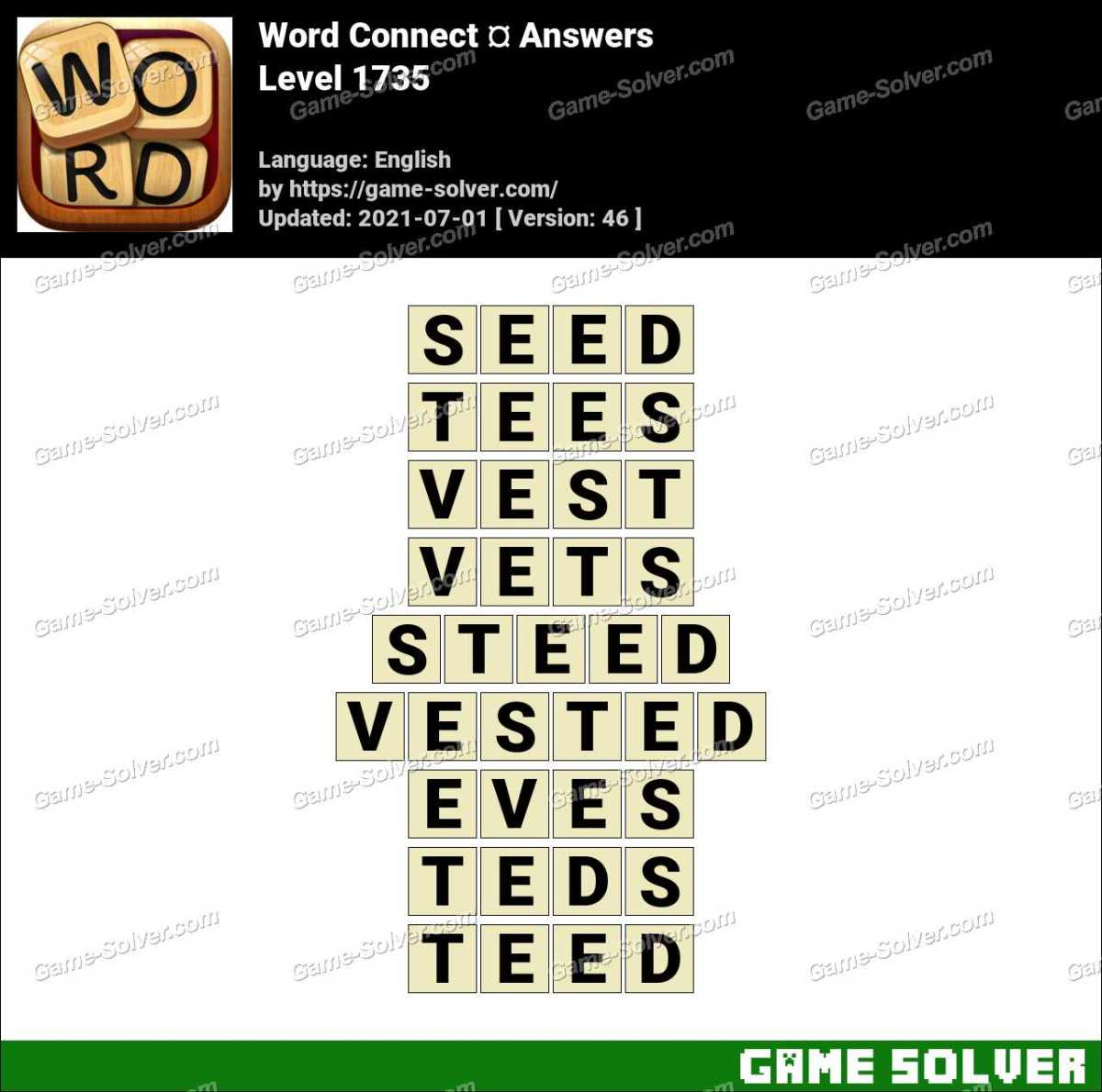 Word Connect Level 1735 Answers