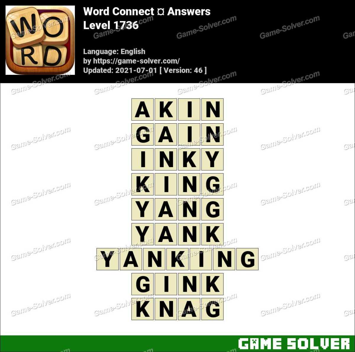 Word Connect Level 1736 Answers